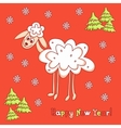 New year card with sheep vector