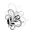 Simple black and white swirling foliate design vector