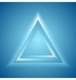 Shiny triangle design vector