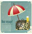 Vintage travel postcard vector