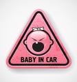 Baby in car vector
