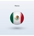 Mexico round flag vector