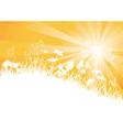Sunny meadow vector