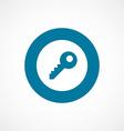 Key bold blue border circle icon vector