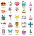Happy birthday icons vector