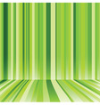 Striped background in green colour vector