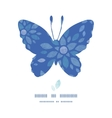 Blue buttefly frame textile peony flowers seamless vector