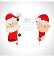 Postcard santa claus and sheep with space for text vector