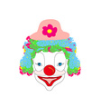 Smiling cartoon clown vector