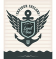 Vintage label with maritime style vector