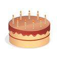 Cute cartoon birthday cake vector