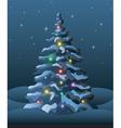 Christmas tree elements vector