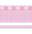 Background with pink stripes and flowers vector