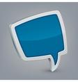 Blue cloud speech vector