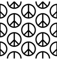 Peace symbol seamless pattern vector