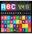 Origami font vector