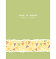 Party decorations bunting vertical torn seamless vector