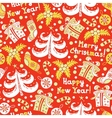 Seamless pattern happy new year and christmas vector