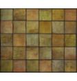 Orange square tile grunge circle pattern backgroun vector