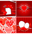 Valentine heart pattern vector