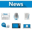 Flat icons for news vector