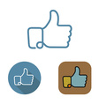 Contour social network like icon and stickers set vector