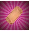 Empty ticket on retro pink background vector