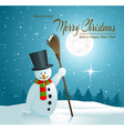 Background with snowman vector