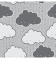 Rain clouds seamless background abstract vector
