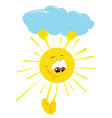 Fun cartoon sun vector