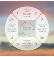 Circle line infographic template for cycle vector