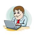 Smiling businessman vector