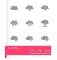 Cloud icon set vector