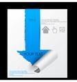 Paper sheet torn paper vector