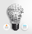 Elements are small icons finance make light bulb vector