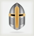 Iron helmet of the medieval knight vector