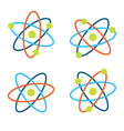 Atom symbols for science colorful icons isolated vector