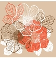 Floral background with flowers of peony vector
