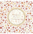 Polka dot seamless pattern with place for text vector