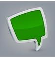 Green cloud speech vector