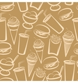 Background with fast food seamless pattern vector