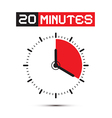 Twenty minutes stop watch - clock vector