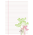 White sheet of paper in line vector