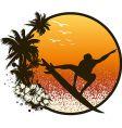 Surf emblem vector