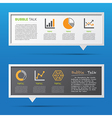 Business icon and 3d bubble talk blackboard vector