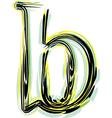 Font letter b vector