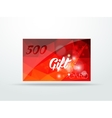Gift greeting card red glitter with shine abstract vector