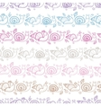 Cute smiling snails stripes seamless pattern vector
