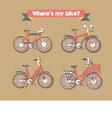 Set bicycle vector