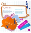 Colorful little notes vector
